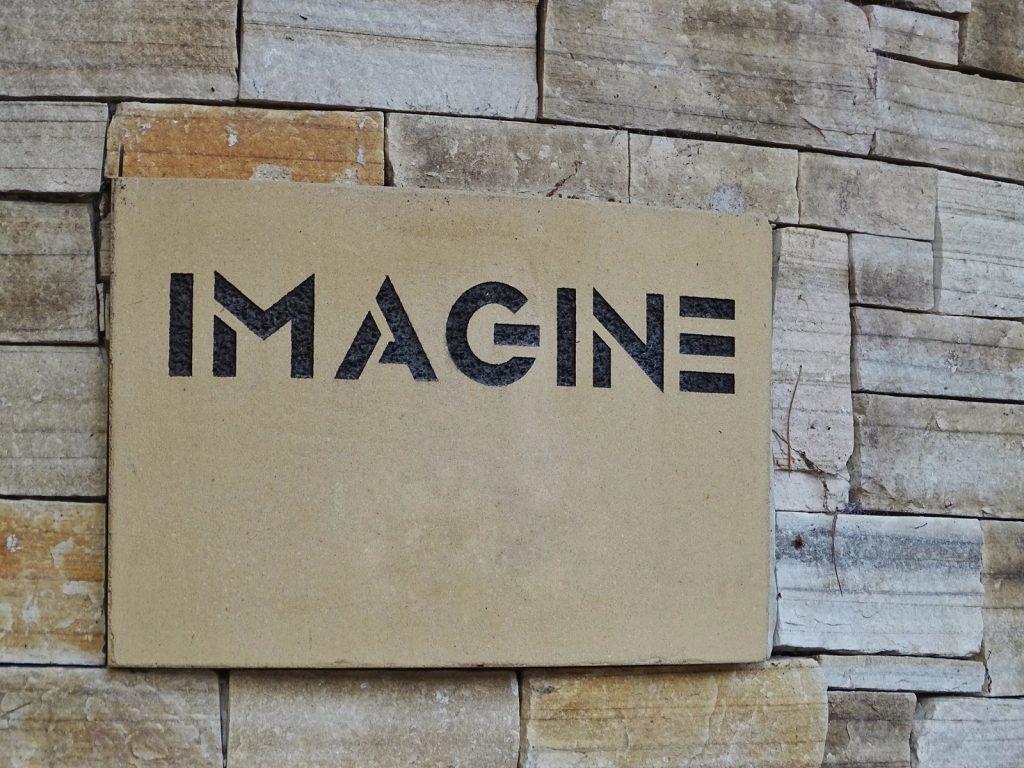 Imagine signage
